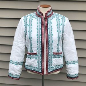 J. Crew Collection Embroidered Linen Jacket 6
